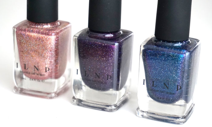 Showing 3 nail polish bottles from the ILNP summer 2016 collection
