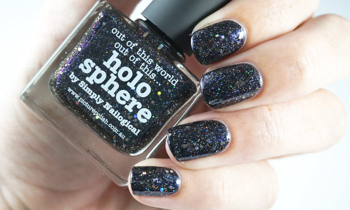 Swatch of picture polish holo sphere showing the holo