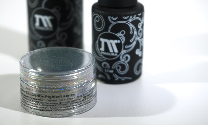 products used for creating a look with the dance legend mirage pigment