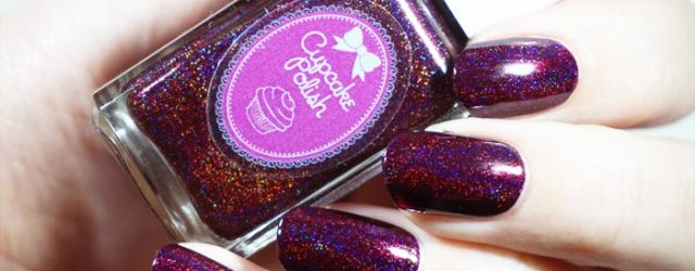 swatch of cupcake polish bloodhound in direct light