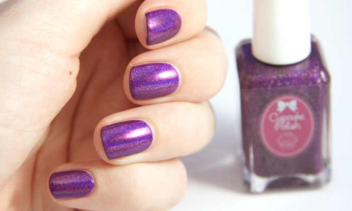 swatch of cupcake polish berry good looking