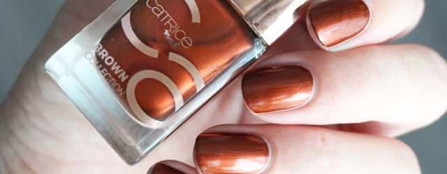swatch of Catrice goddess of bronze from the brown collection