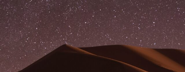 Picture of the desert in the night